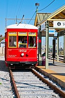 Famous New Orleans tram, Canal Street Line, New Orleans, state of Louisiana, USA, North America