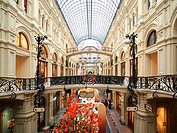 Interior of the GUM Shopping Centre on Red Square, Moscow, Russia, Europe