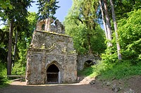 Ruins in the palace garden, Belvedere Castle, Weimar, Germany