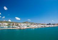 Coast line at Ibiza, Spain
