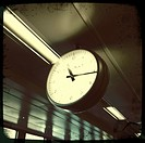 Clock in Barajas, Airport in Madrid, Spain