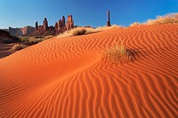 Sand dunes at Yei-bi-Chai rocks in Monument Valley, AZ