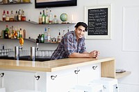 Portrait of barman in cafe