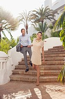 Couple in tourist resort