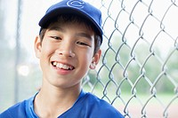 Portrait of twelve year old baseball player