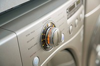 Close_up of settings on energy efficient washing machine