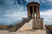 Siege Bell memorial, Valetta, UNESCO World Heritage Site, Malta, Europe