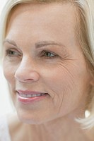 Close_up of blond senior woman