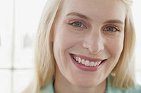 Portrait of pretty blond mid_adult woman