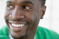 Close_up of handsome, African American man