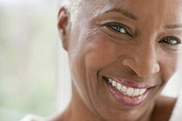 Close_up portrait of healthy middle_aged woman