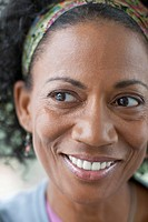 Close_up of middle_aged African American women