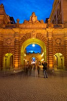 Riksdagshuset at night, Stockholm, Sweden, Scandinavia, Europe