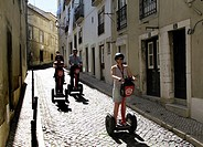 Tourists with Segways in Lisbon