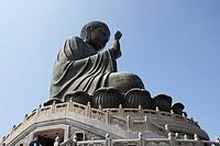 The Giant Buddha, Po Lin Monastery, Lantau Island, Hong Kong
