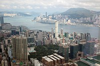OTH-233-55734 Panoramic sweep of Hong Kong cityscape from Sky100 393 meters above sea level Hong Kong