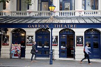 Facade of the Garrick Theatre, London, England, UK
