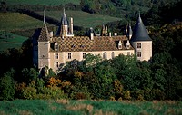 Chateau de la Rochepot, Burgundy. France, 13th-19th century.