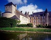 View of Chateau de Colombieres (Colombieres Castle), near Saint-Lo, Basse Normandie. France, 15th-16th century.