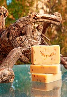 Hand_made lavender soap still life
