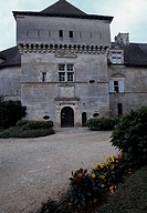 View of Chateau de Cenevieres, Midi-Pyrenees. France, 13th-16th century.