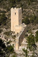 Watchtowers in Alarcón, Cuenca, Castilla La Mancha, Spain