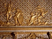 Detail of the ceiling in the Bull's-Eye Salon, Palace of Versailles (UNESCO World Heritage List, 1979). France, 17th century.