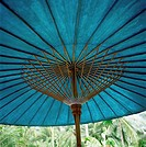 Teal_Colored Traditional Paper Parasol