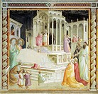 Presentation of Mary in the Temple, detail from Stories of the Virgin, fresco by Taddeo Gaddi (ca 1300-1366), 1328-1338. Bandini Baroncelli Chapel, Ba...