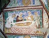 Burial of St Hermagoras and St Fortunatus, crypt fresco, Patriarchal Basilica of Santa Maria Assunta (UNESCO World Heritage List, 1998), Aquileia, Fri...