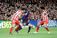 16/12/2012, NOU CAMP, BARCELONA  Leo Messi in action during the match in barcelona