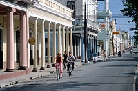 Main street in Cienfuegos, Cuba, Greater Antilles