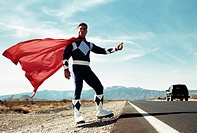 Superhero Hitchhiking