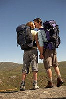 Couple Kissing at Scenic Point along Hike
