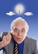 Businessman with a Bright Idea