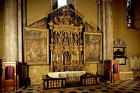 Altar of Sant'Abbondio from the 16th century Cathedral of Santa Maria Assunta, Como. Italian, 16th century.