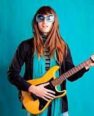 humor retro vintage hip heavy seventies guitar playe
