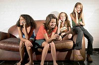 Girls talking on their cell phones