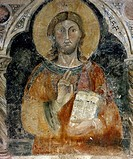 Figure of Male, fresco of the facade of the Monastery of St Scholastica, Subiaco, Italy.