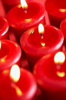 Candlelight of red candles