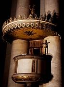 Pulpit, Church of Sant'Antonio Taumaturgo, Trieste, Friuli-Venezia Giulia. Italy, 19th century.