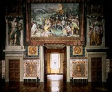 Interior of a frescoed hall, Palazzo Farnese, Rome. Italy, 16th century