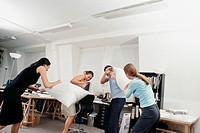 Office Pillow Fight