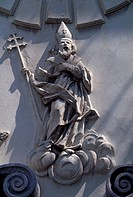 Detail from a relief on the Church of St Wojciech (St Adalbert's Church) in Krakow (Krakow's historic center, UNESCO World Heritage List, 1978), 11th ...