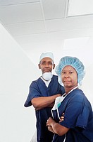 Portrait of a surgical team