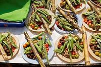 Mix vegetable selling in Pune mandal ; Maharashtra ; India