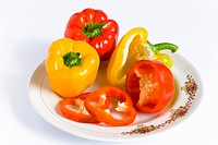 The Bell Pepper , capsicum red &amp; yellow originated from Mexico