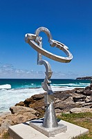 Sculpture by the Sea, annual exhibition at the Bondi - Tamarama coastal walk  'Waterlily 2009' sculpture by Jock Clutterbuck