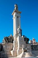 Cortes_Denkmal in Cadiz