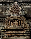 Detail of the decorations of the Vaital Deul Temple in Bhubaneswar, Orissa State, India. Indian civilization, 8th century.